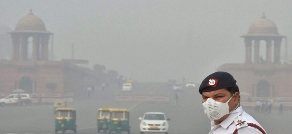 Delhi's air quality continued to remain in the very-poor category with an overall air quality index of 348 on Monday. (PTI/File)