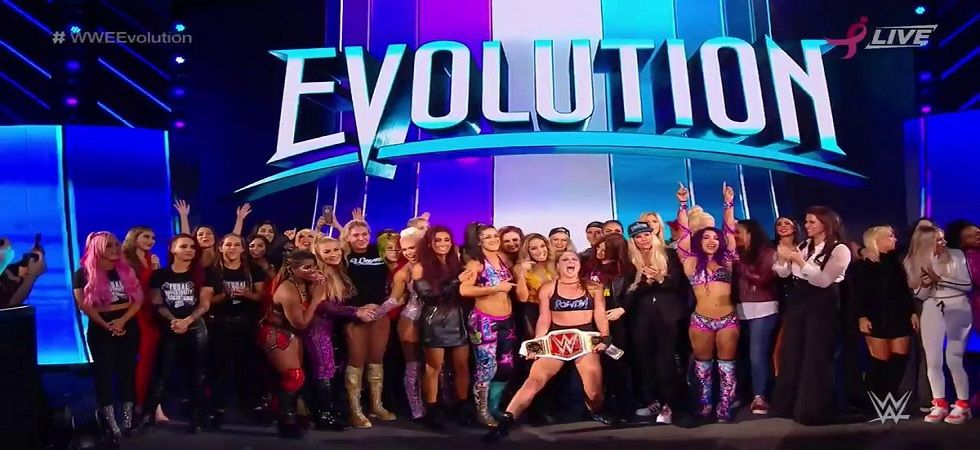 WWE Evolution was a Pay Per View exclusively for women wrestlers, breaking down barriers and creating history. (Image credit: WWE Twitter)