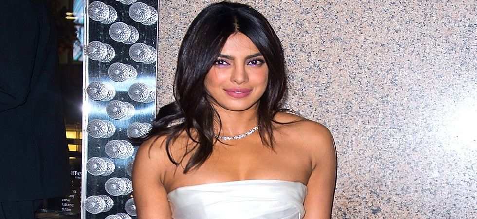 Priyanka Chopra tames the Monday with her quirky pantsuit look (Photo: Twitter)