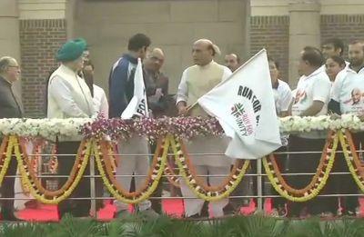 Sardar Patel Birth Anniversary: Rajnath Singh flags off 'Run for Unity' in New Delhi