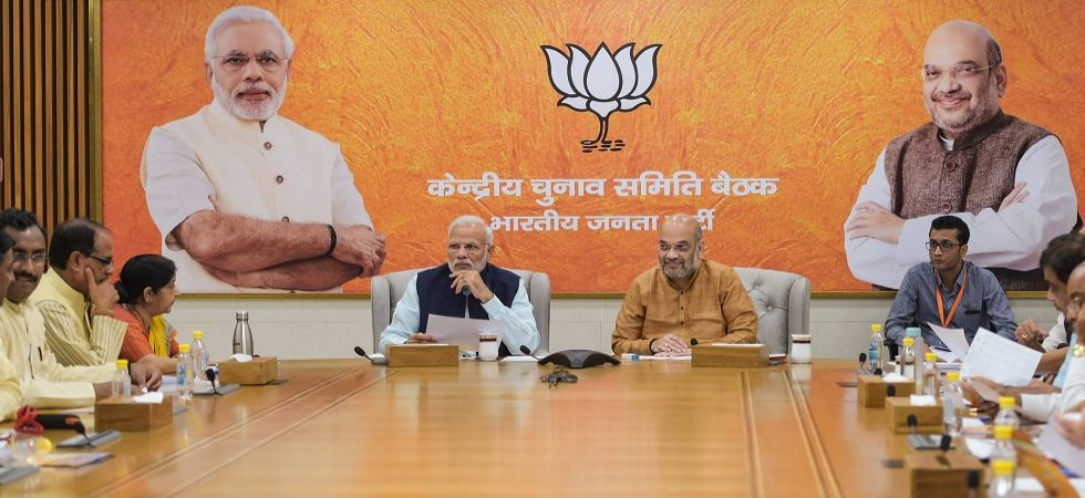 Assembly Elections 2018: BJP CEC meeting at party HQ in Delhi (Photo Source: PTI)