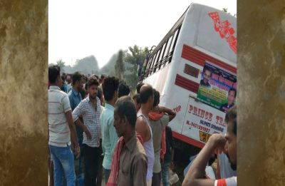 Bihar: Three dead after bus carrying Rashtriya Lok Samta Party workers rams into bike in Muzaffarpur