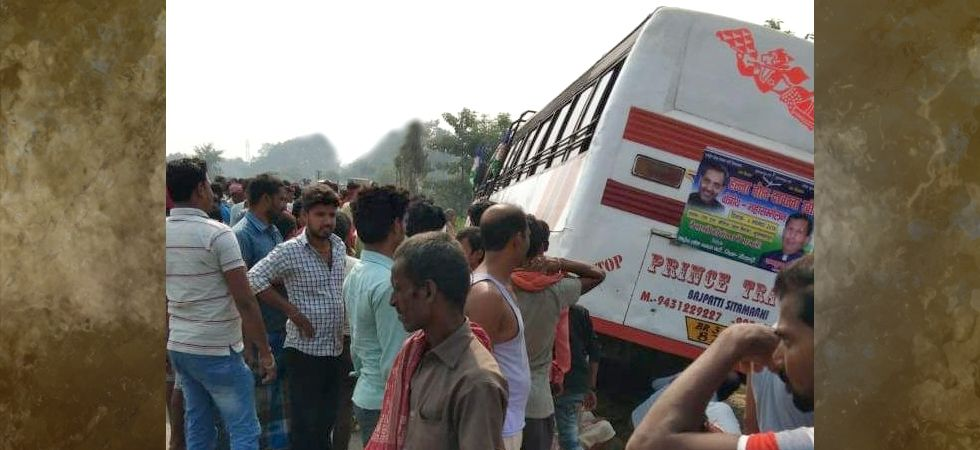 Bihar: Three bike-borne persons dead after crash with bus