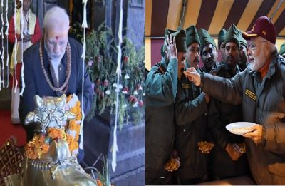Diwali 2018 celebrations: PM Modi offers prayers at Kedarnath Temple; greeted by local people in Harsil