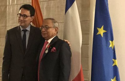 Jawahar Lal Sarin honoured with France's highest civilian honour