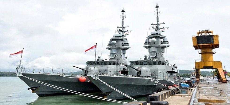 India-Singapore kicks-off mega combat drill in Port Blair (Photo- Twitter/@PIB_India)
