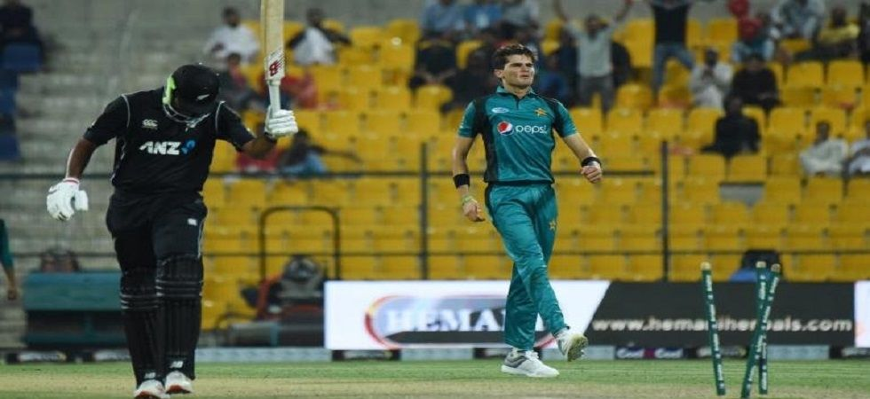 Shaheen Afridi picked up 4/38 as Pakistan secured a six-wicket win over New Zealand to break a 12-match losing streak. (Image credit: Twitter)
