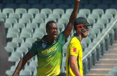 Kagiso Rabada in danger of ban after Chris Lynn send-off in Adelaide ODI