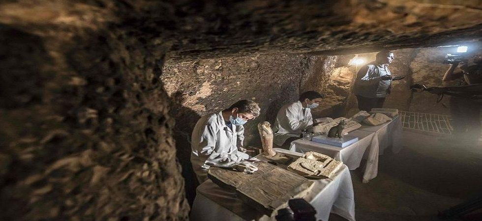 Egypt's newly discovered tombs hold mummies, animal statues (Photo- Twitter)