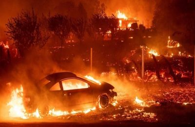 California Fire: Kim Kardashian, Lady Gaga evacuate homes, James Woods call out for help