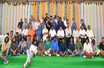 SS Rajamouli's RRR kick-started with a massive launch; Prabhas, Chiranjeevi, Rana Daggubati graced the event