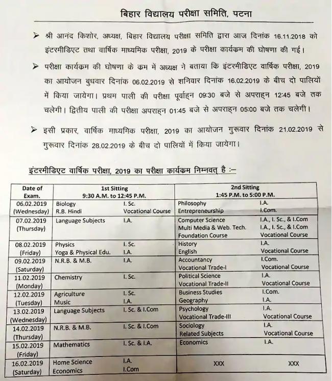 Bihar Board BSEB Class 10th,12th exam dates announced  Know