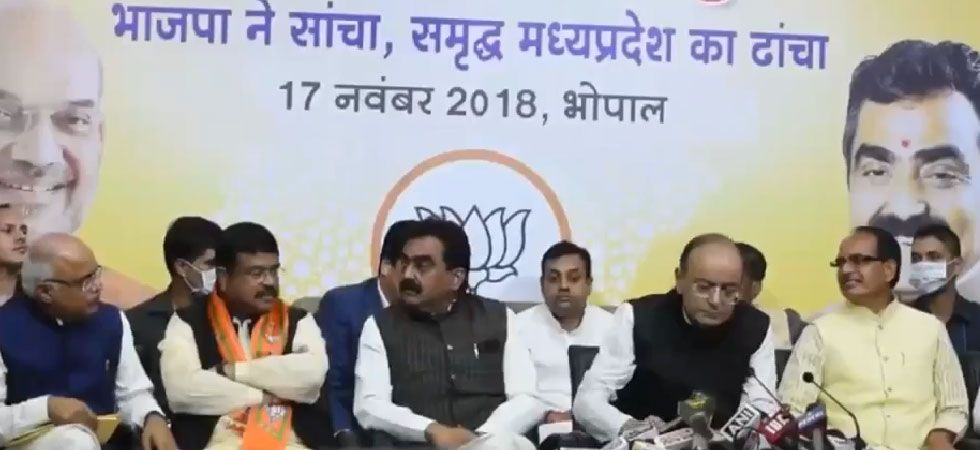 BJP releases manifesto for Madhya Pradesh Assembly elections (Photo: Screen grab/ Twitter)