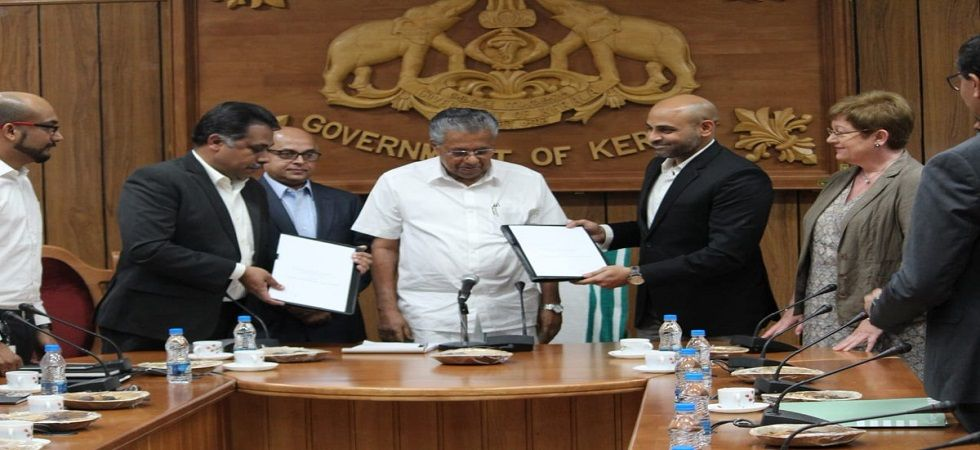 Kerala government signs MOU with Airbus BizLab (Photo- Twitter/@tenarasimhan)