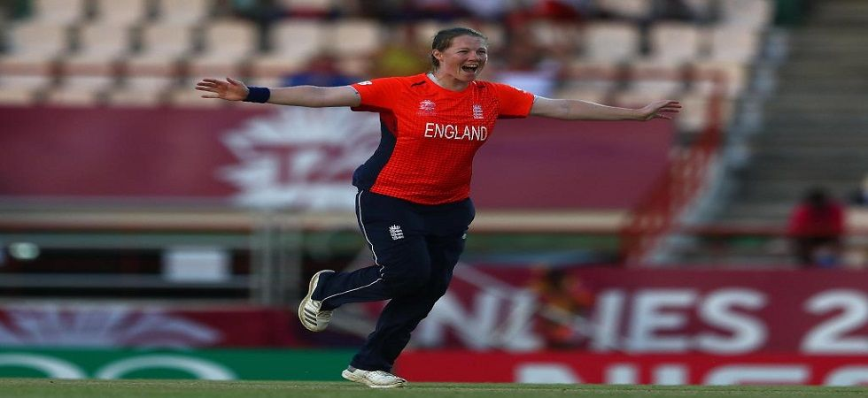 Anya Shrubsole became the 10th bowler to take a hat-trick in women's twenty20 internationals. (Image credit: ICC Twitter)