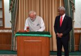 Maldives' Ibrahim Mohamed Solih sworn in as President, PM Modi attends ceremony