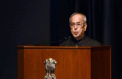Media need to ask questions to those in power: Mukherjee