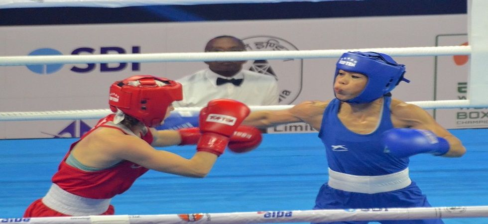 MC Mary Kom has assured India of a medal in the AIBA World Boxing Championship as she entered the semi-final of the tournament. (Image source: Twitter)