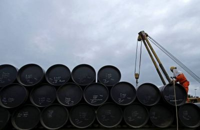 Aviation, oil marketing companies rise on lower global crude oil prices