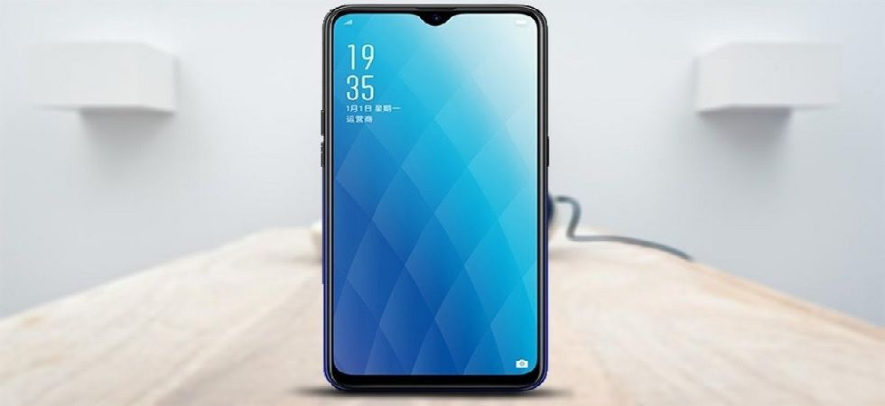 Oppo A7 sports a 6.2-inch HD+ IPS LCD waterdrop display with a resolution of 1520×720 pixels (Photo: Twitter)