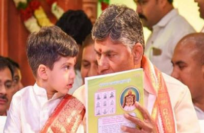 Andhra Pradesh Chief Minister Chandrababu Naidu's three-year-old grandson six times richer than him