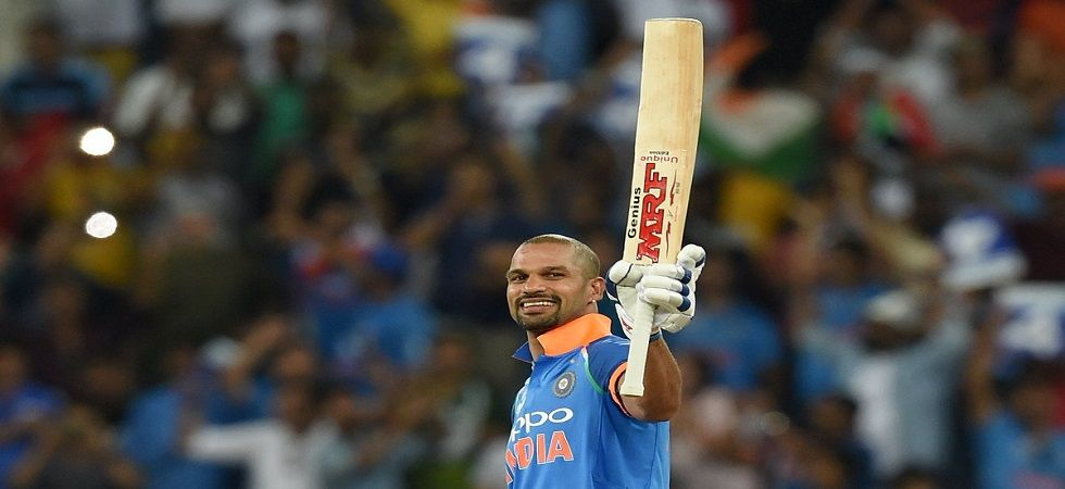 Shikhar Dhawan accumulated the most runs in Twenty20 Internationals in a calendar year. (Image credit: Twitter)
