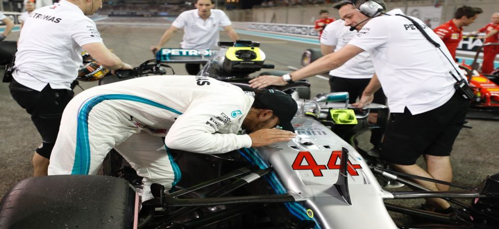 Lewis Hamilton secured a record 83rd pole position as he aims to end the 2018 Formula One season with a win in the final race of the year in Abu Dhabi. (Image credit: F1 Twitter)