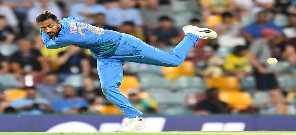 Krunal Pandya's 4/36 is the best figures by a spinner in Twenty20 Internationals in Australia. (Image credit: Twitter)