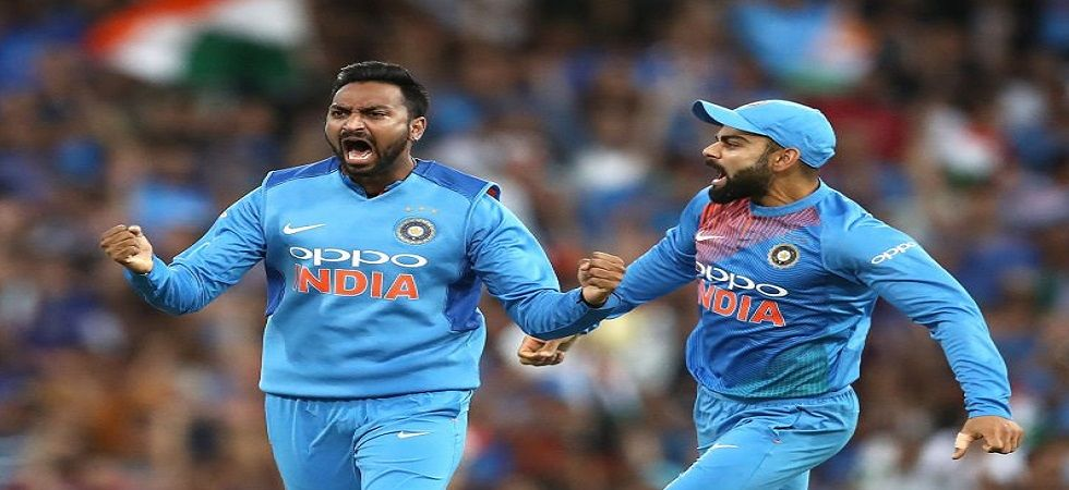 Virat Kohli's Indian cricket team secured a confidence-boosting win in the final Twenty20 International in Sydney ahead of the Tests. (Image source: Twitter)