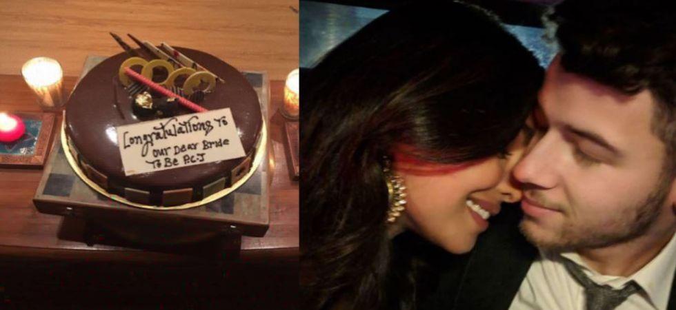 Soon-to-be man and wife Nick Jonas-Priyanka Chopra celebrate before leaving for Mumbai
