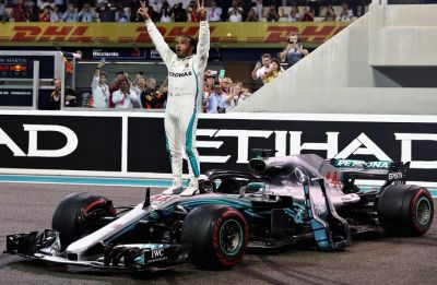 Lewis Hamilton clinches Abu Dhabi Grand Prix to secure glorious end to record-breaking 2018