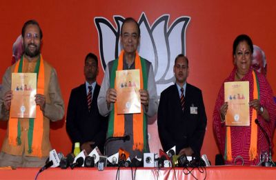 BJP releases manifesto for Rajasthan Assembly polls, promises 50 lakh jobs