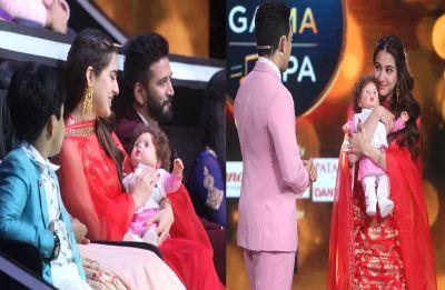 Sara Ali Khan cuddle up with Taimur Ali Khan! Oh wait! It's a Taimur doll