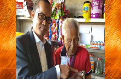 108-year-old man casts vote as Mizoram's oldest voter