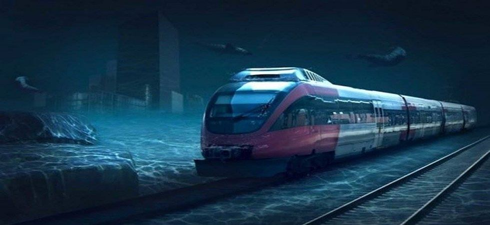 Underwater train connecting Mumbai and UAE at work (Photo: Facebook)