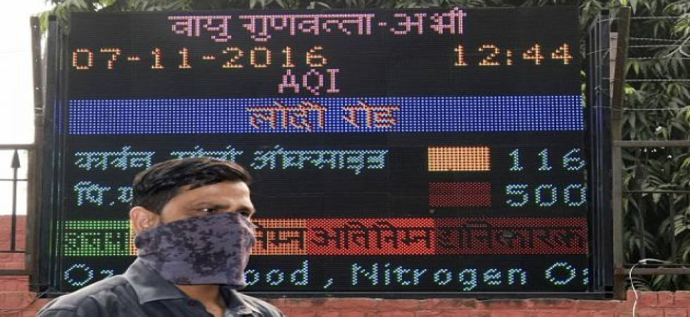 At the Lodhi Road area, the Air Quality Index (AQI) PM 2.5 was at 247 (poor category) and PM 10 at 257 (poor category) (Photo: File)