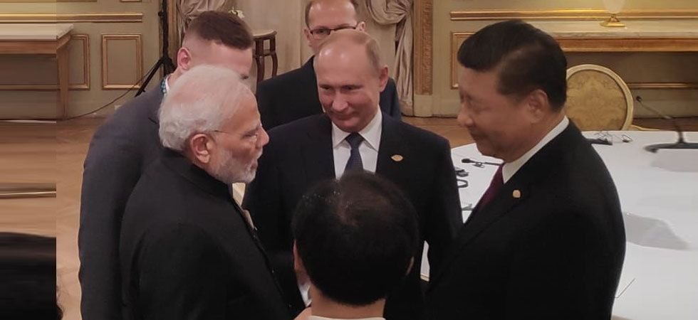 The Russia-India-China meeting came hours after Prime Minister Narendra Modi, his Japanese counterpart Shinzo Abe, and US President Donald Trump held their first trilateral summit. (Photo: Twitter/@PMO)