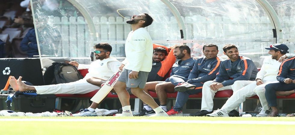 Virat Kohli took a rare wicket in India's warm-up game at the Sydney Cricket Ground, his fourth in First-Class cricket. (Image credit: Twitter)