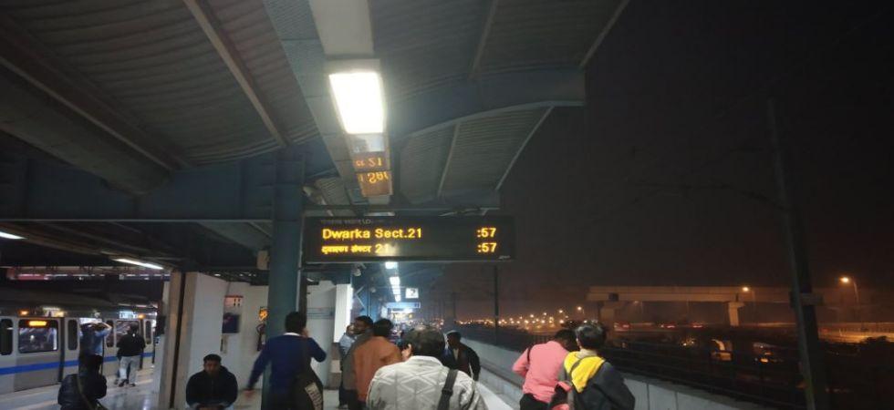 Delhi Metro's Blue Line services still affected (Photo Source: Twitter)