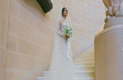 Priyanka Chopra's 75-feet Ralph Lauren wedding veil gives rise to splitting memes on Twitter, read here