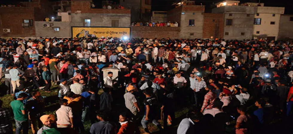 On October 19, a train drove through a crowd standing on the railway tracks at a Dussehra event held on a ground near the tracks in Amritsar. (File photo)