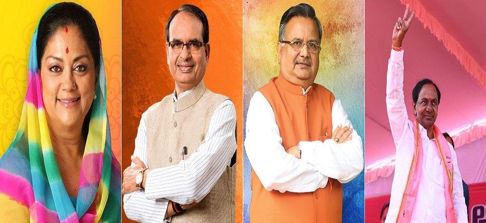 Exit Polls Live on Madhya Pradesh, Rajasthan, Chhattisgarh, Telangana