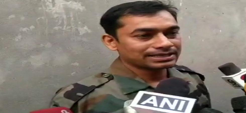 Dharmendra Malik, the brother of army jawan Jeetendra Malik alias Jeetu Fauji, (ANI/Twitter)