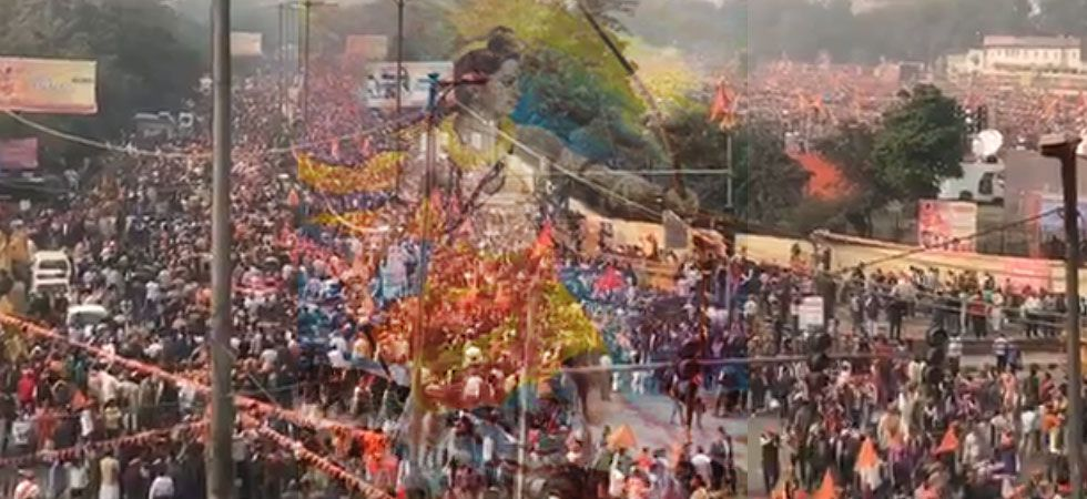 At massive Delhi rally, VHP demands bill on Ram Temple in winter session of Parliament. (News Nation Photo)