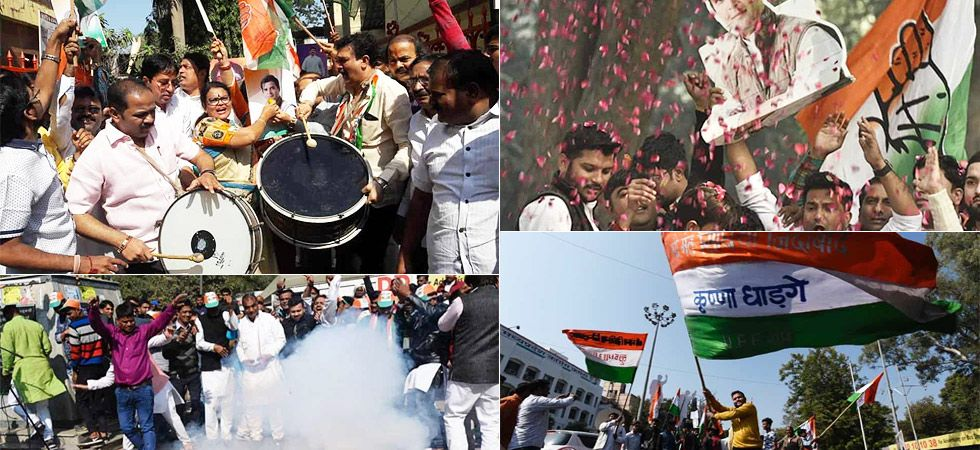 Congress celebrates outside party offices across India (Photo Source: Twitter)