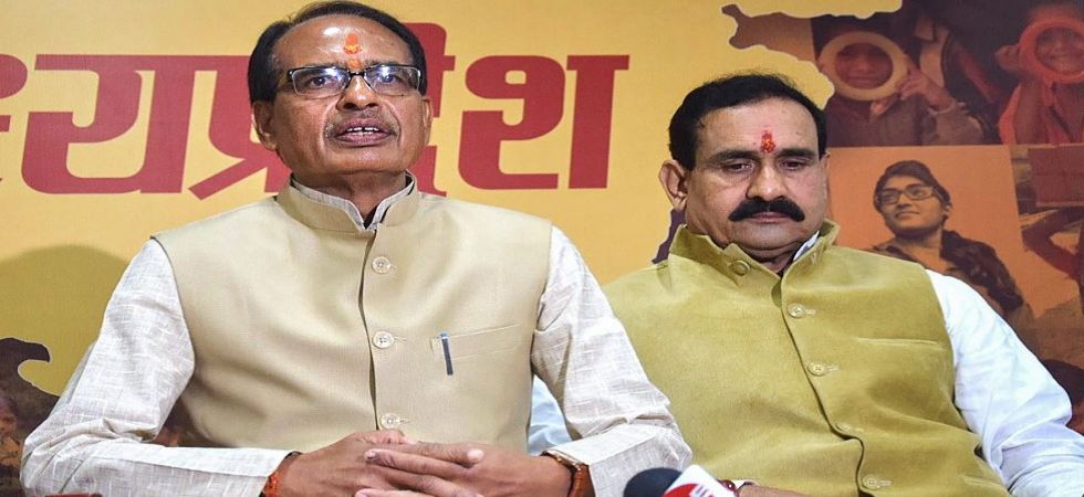 Shivraj Singh Chouhan addresses a press conference at his residence (Photo Source: PTI)