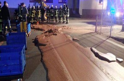Chocolate havoc: Chocolate meltdown caused German road to close