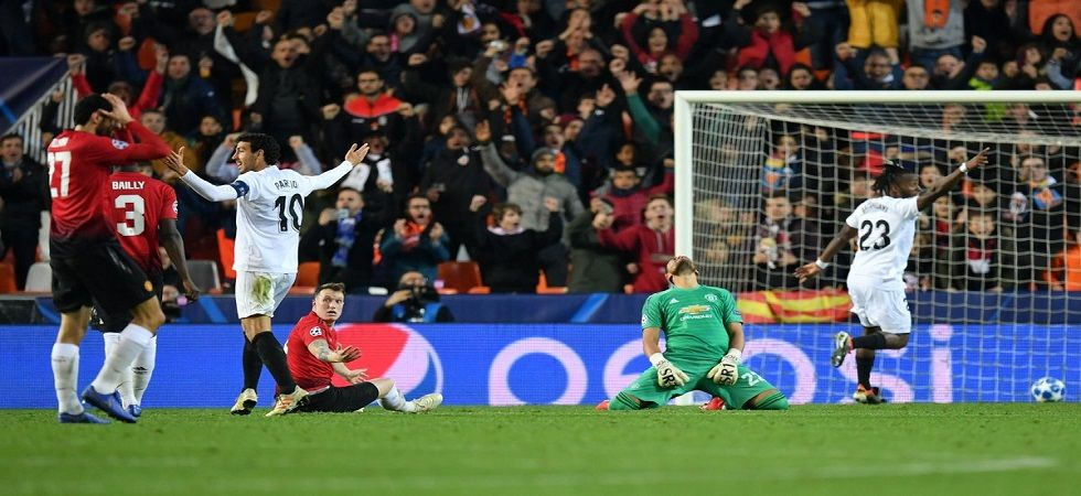 Manchester United squandered the chance to top their Group in the UEFA Champions League with a 2-1 win loss to Valencia. (Image credit: Twitter)
