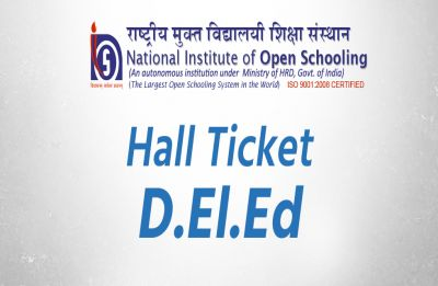 NIOS releases hall tickets for 3rd D.El.Ed Exam in December, details inside