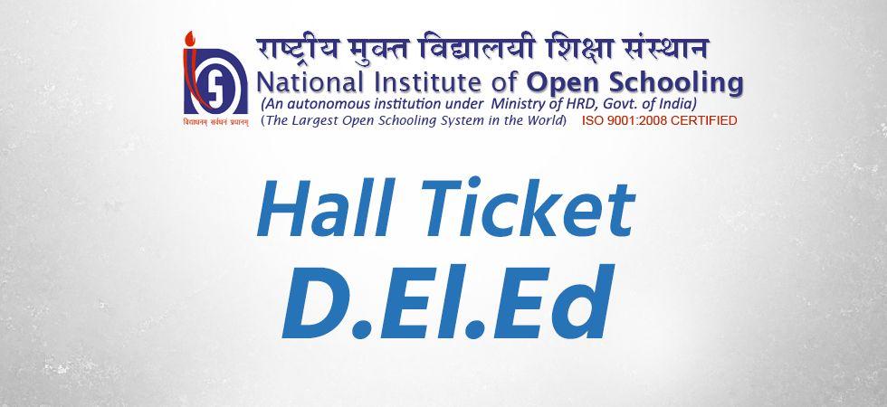 NIOS releases hall tickets for 3rd D.El.Ed Exam (Representational Image)
